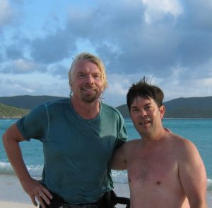 Tourism Tim Warren with Sir Richard Branson on a business retreat in the BVI's