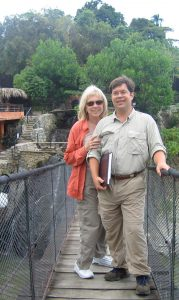 tourism business team: Tourism Tim Warren & Sabrina Braham working in Dominican Republic